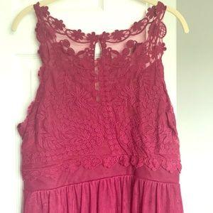 Francesca burgundy lace dress